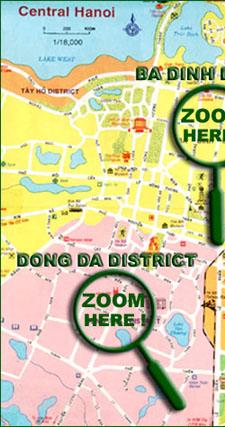 Vietnam Map - Hanoi Map - Vietnam Open Tour - Sinhcafe Travel